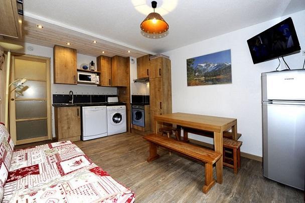 Location au ski Appartement 2 pièces cabine 5 personnes (107) - Residence Les Balcons D'olympie - Les Menuires - Séjour