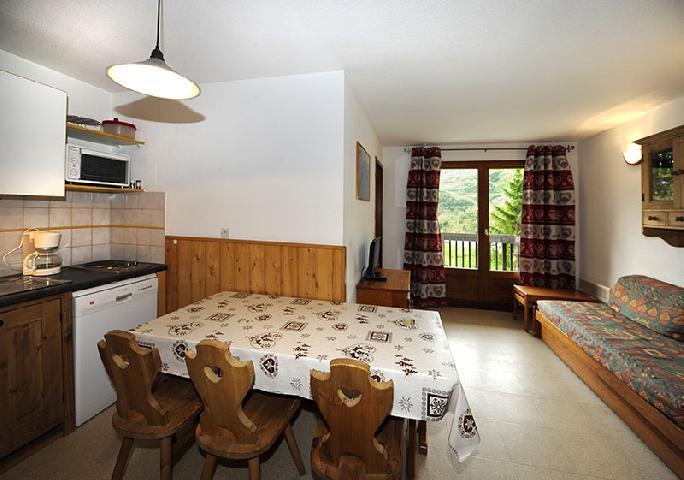 Location au ski Appartement 2 pièces cabine 6 personnes (110) - Residence Les Balcons D'olympie - Les Menuires - Séjour