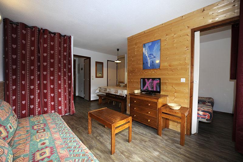 Location au ski Appartement 2 pièces cabine 6 personnes (535) - Residence Les Balcons D'olympie - Les Menuires - Séjour