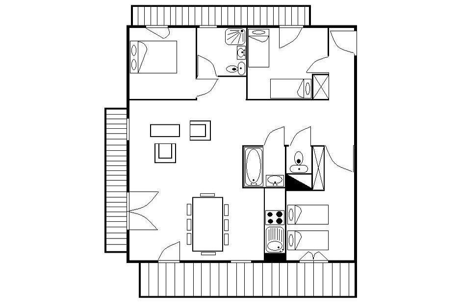 Location au ski Appartement 3 pièces 6 personnes (24) - Residence Les Cristaux - Les Menuires