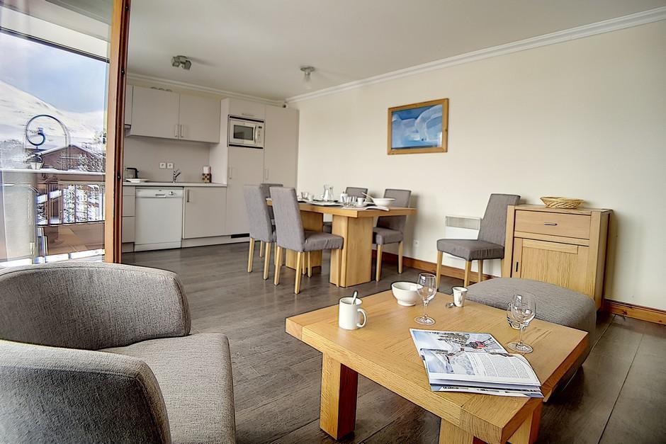 Location au ski Appartement 3 pièces 6 personnes (24) - Residence Les Cristaux - Les Menuires - Cuisine