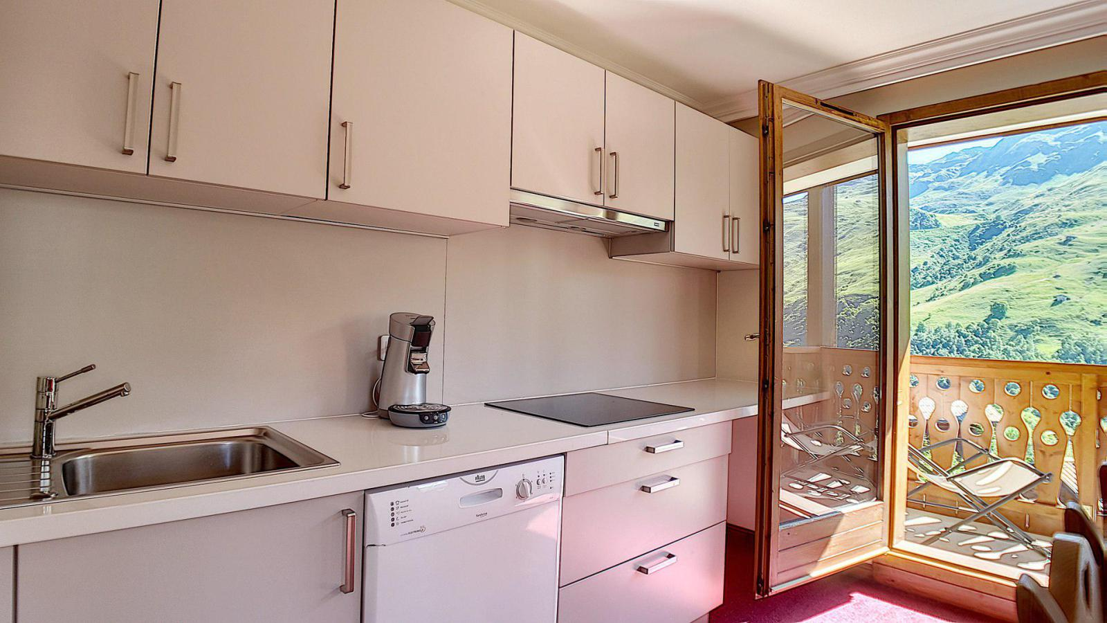 Location au ski Appartement 3 pièces 6 personnes (3) - Residence Les Cristaux - Les Menuires - Meuble vasque