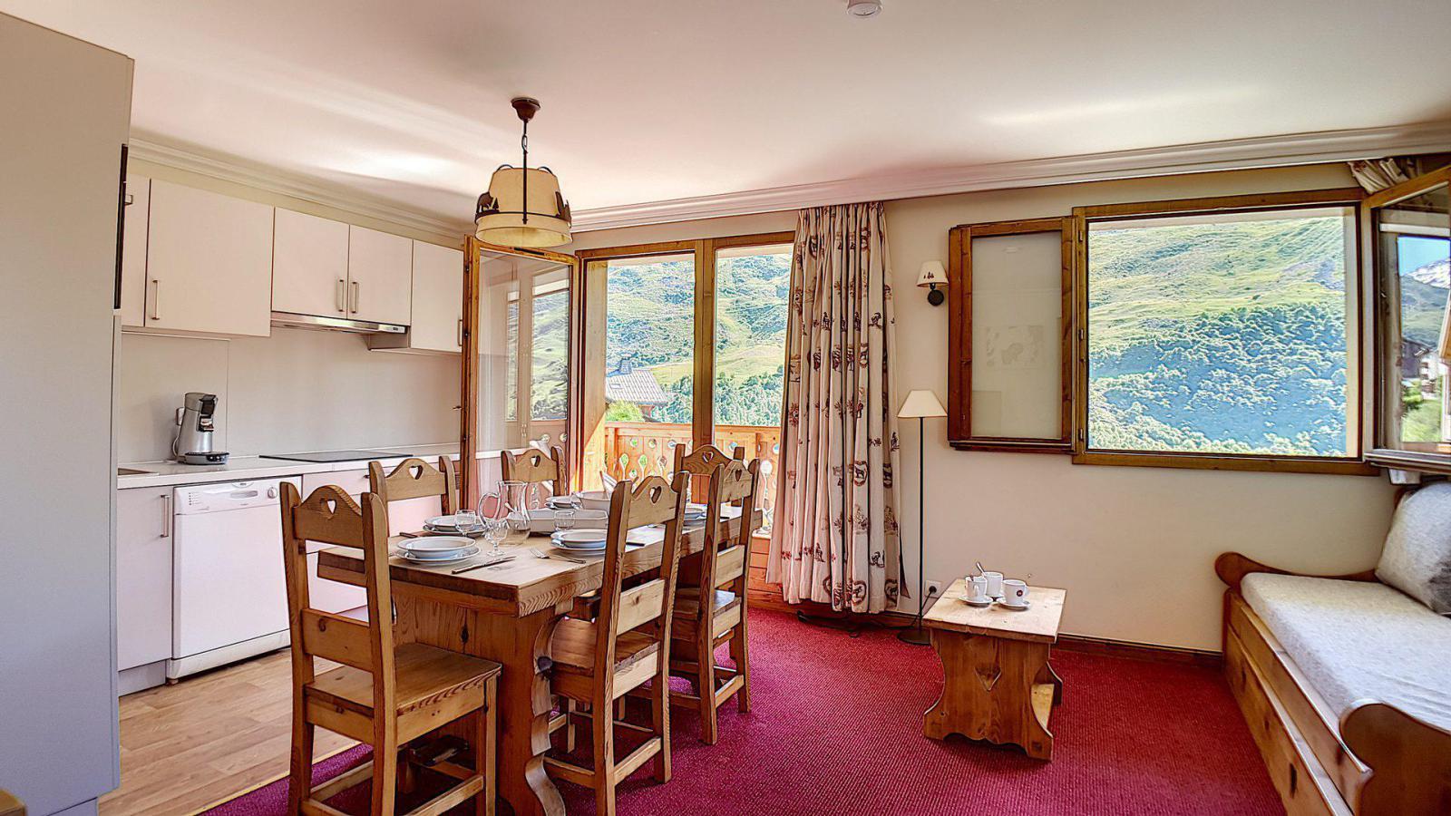 Location au ski Appartement 3 pièces 6 personnes (3) - Residence Les Cristaux - Les Menuires - Séjour