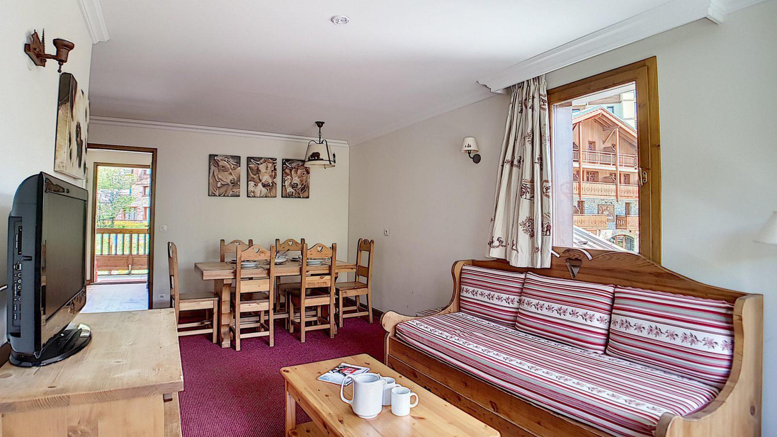 Location au ski Appartement 3 pièces 6 personnes (4) - Residence Les Cristaux - Les Menuires - Table