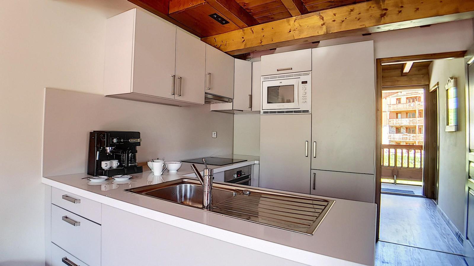 Location au ski Appartement duplex 4 pièces 10 personnes (8) - Residence Les Cristaux - Les Menuires - Extérieur hiver
