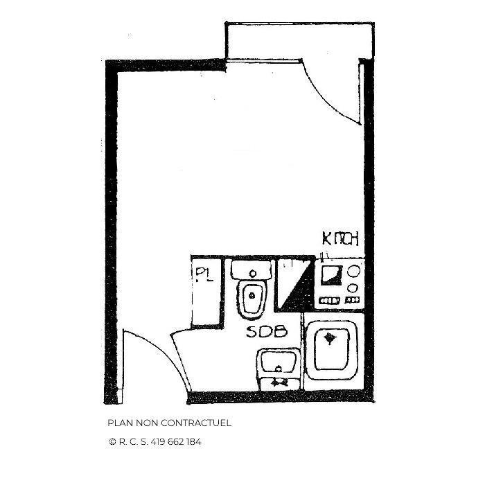 Location au ski Studio 2 personnes (1102) - Residence Les Dorons - Les Menuires - Baignoire