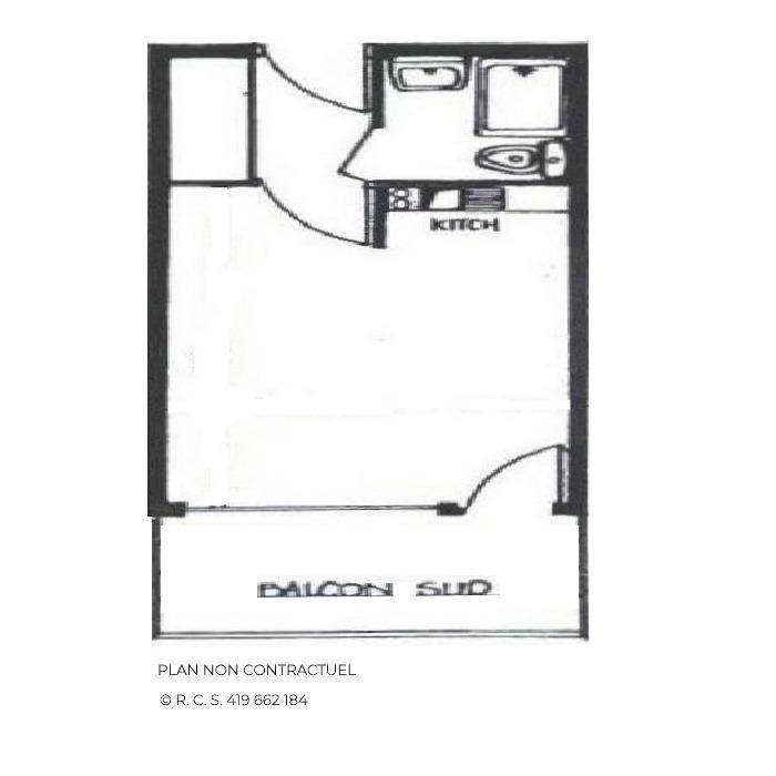 Location au ski Studio 3 personnes (303) - Residence Les Dorons - Les Menuires - Séjour