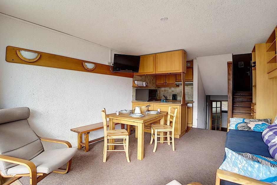 Location au ski Appartement duplex 2 pièces 5 personnes (303) - Residence Les Evons - Les Menuires - Fenêtre