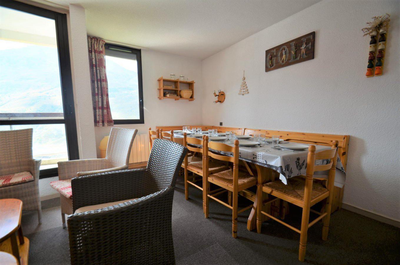 Location au ski Appartement 3 pièces 10 personnes - Residence Les Origanes - Les Menuires - Séjour