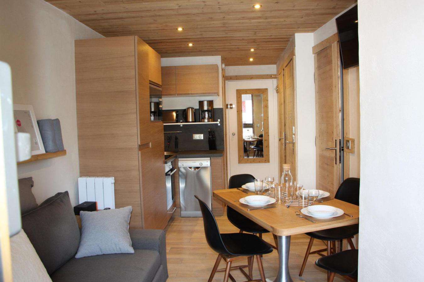 Location au ski Appartement 2 pièces cabine 4 personnes (104) - Residence Soldanelles - Les Menuires