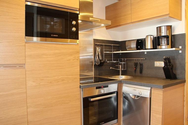 Location au ski Appartement 2 pièces cabine 4 personnes (104) - Residence Soldanelles - Les Menuires - Kitchenette