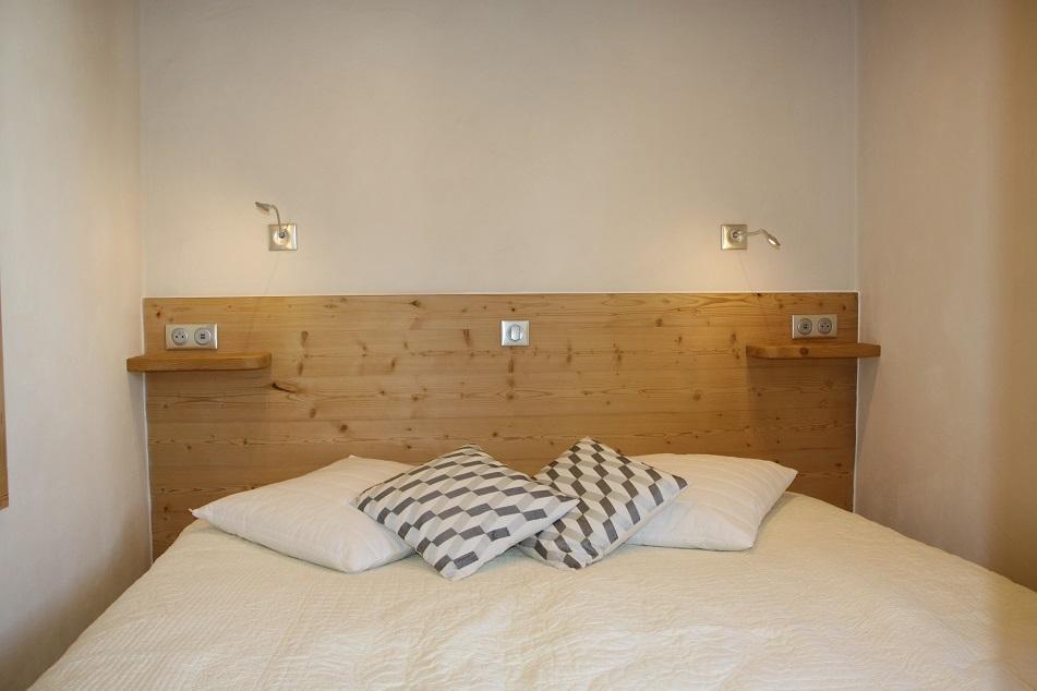 Location au ski Appartement 2 pièces cabine 4 personnes (104) - Residence Soldanelles - Les Menuires - Lit double
