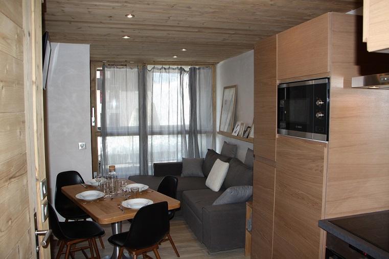 Location au ski Appartement 2 pièces cabine 4 personnes (104) - Residence Soldanelles - Les Menuires - Séjour