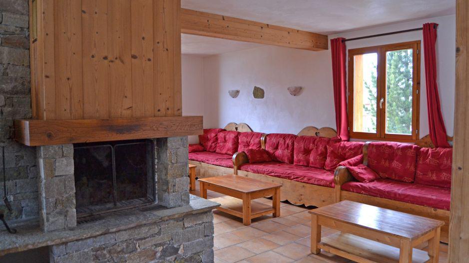 Alquiler al esquí Chalet Brequin - Les Menuires - Chimenea