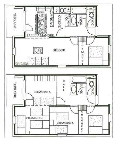 Location au ski Appartement duplex 6 pièces 13 personnes - Chalet Cristal - Les Menuires - Plan
