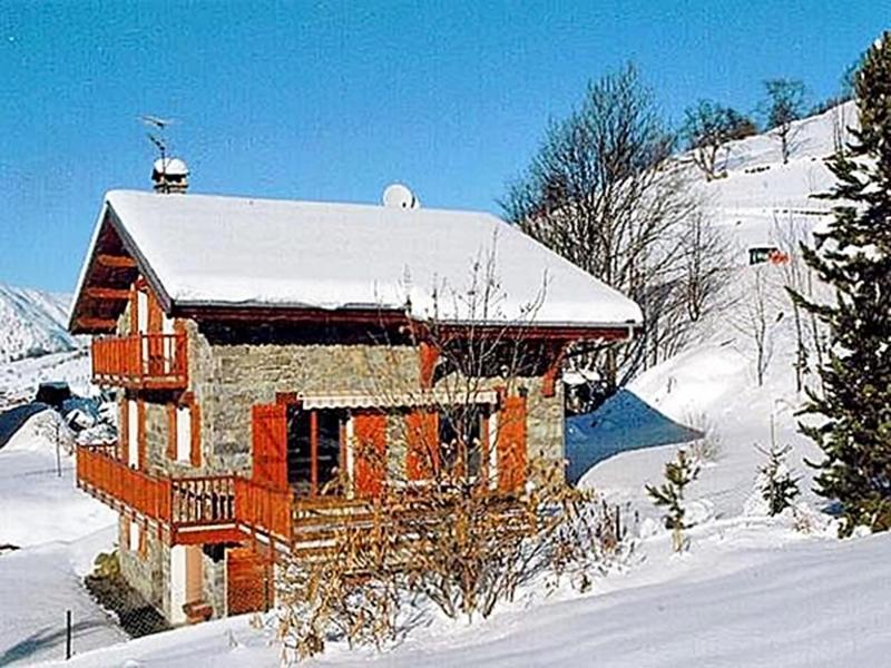 Urlaub in den Bergen Chalet Flocon de Belleville - Les Menuires - Draußen im Winter
