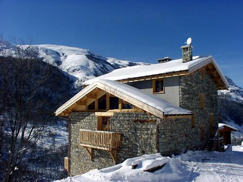 Location au ski Chalet 11 pièces 26 personnes - Chalet Gran Koute - Les Menuires - Extérieur hiver