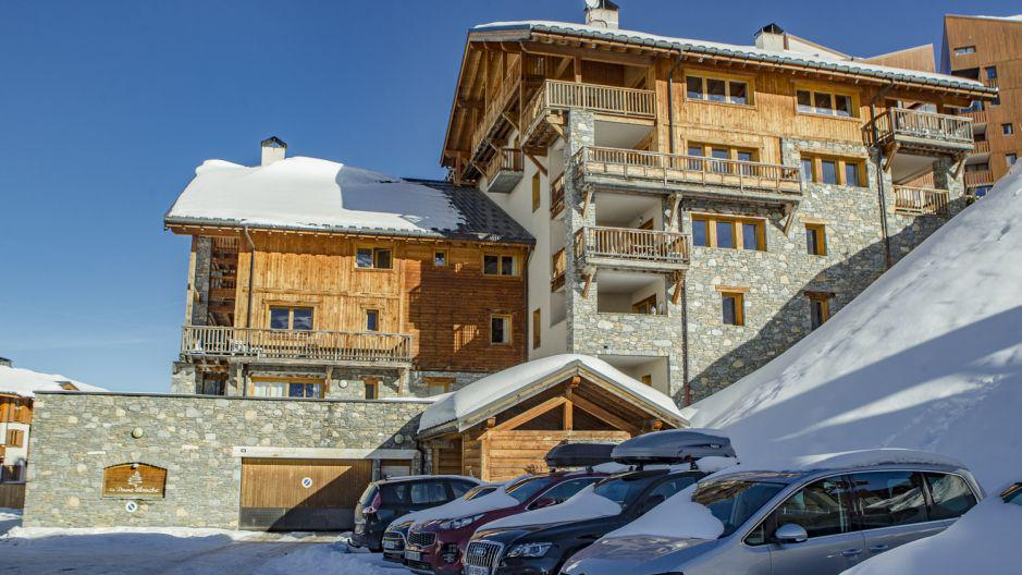 Rent in ski resort Chalet la Dame Blanche - Les Menuires - Winter outside