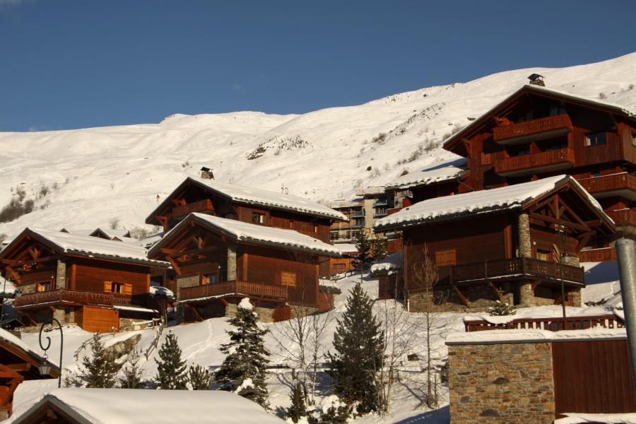 Vacances en montagne Chalet le Hameau des Marmottes - Les Menuires - Extérieur hiver
