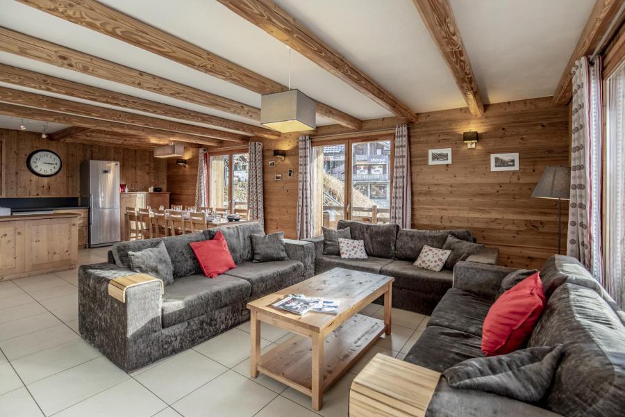 Location au ski Chalet Lili - Les Menuires - Canapé