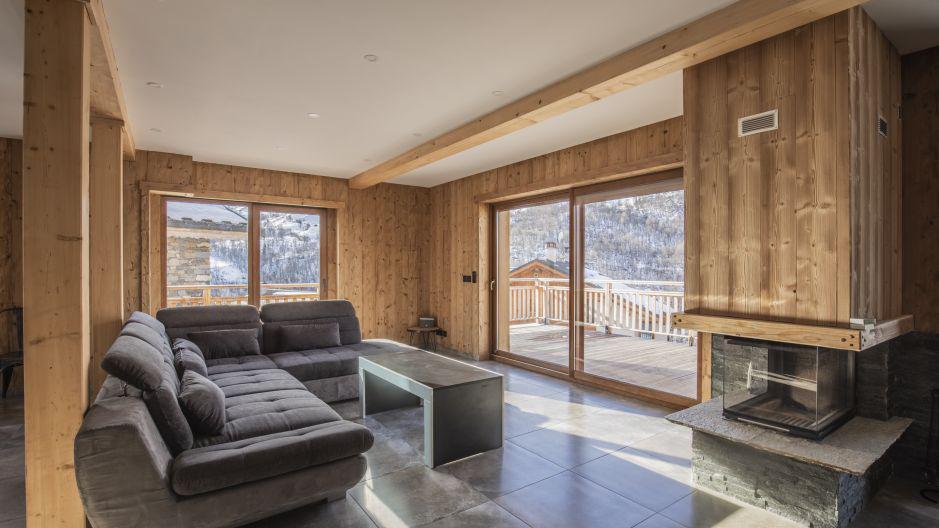 Rent in ski resort Chalet Matangie - Les Menuires - Living room