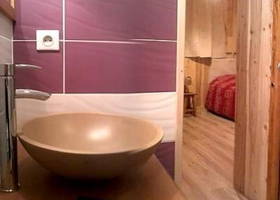 Skiverleih Doppelchalethälfte 8 Zimmer für 14 Personen - Chalet Mil'Ans - Les Menuires - Waschbecken