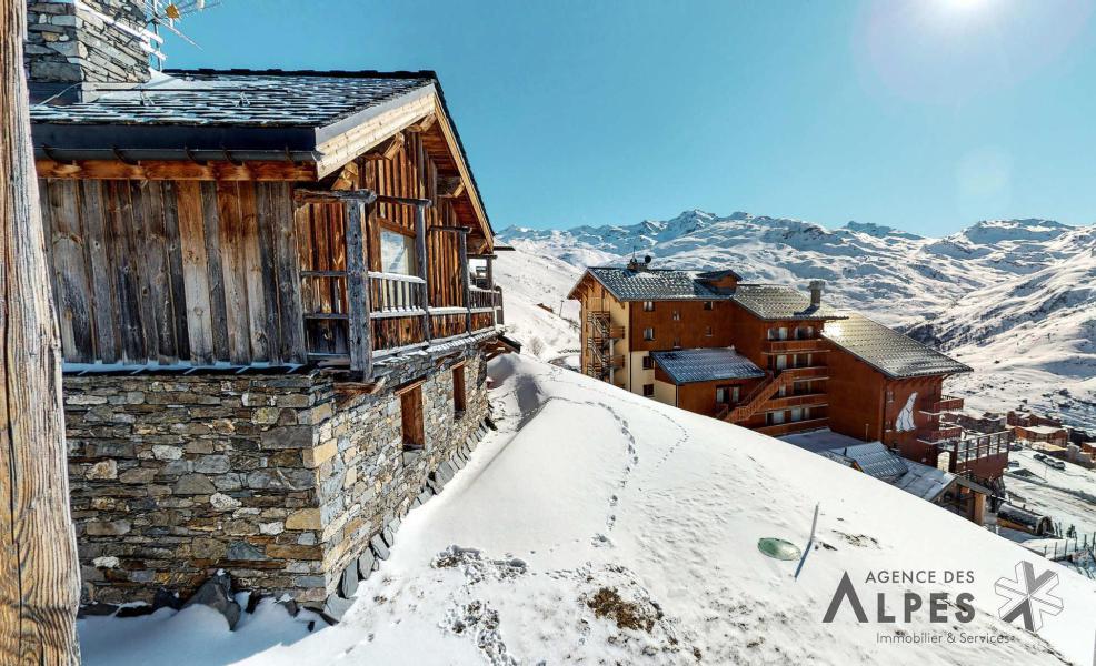 Vacances en montagne Chalet Nécou - Les Menuires - Extérieur hiver