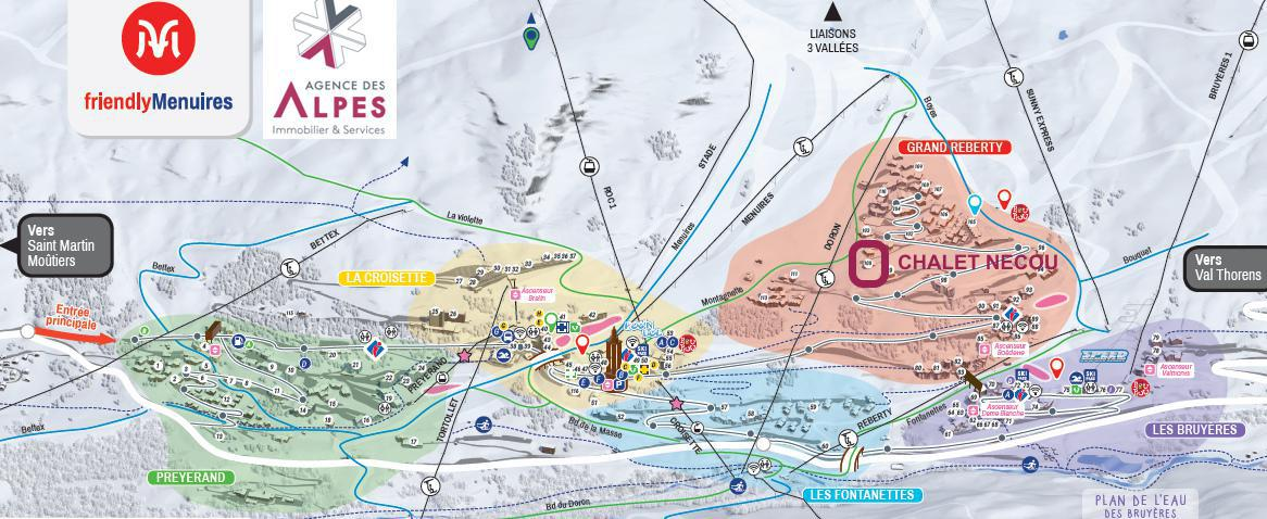 Location au ski Chalet Nécou - Les Menuires - Séjour