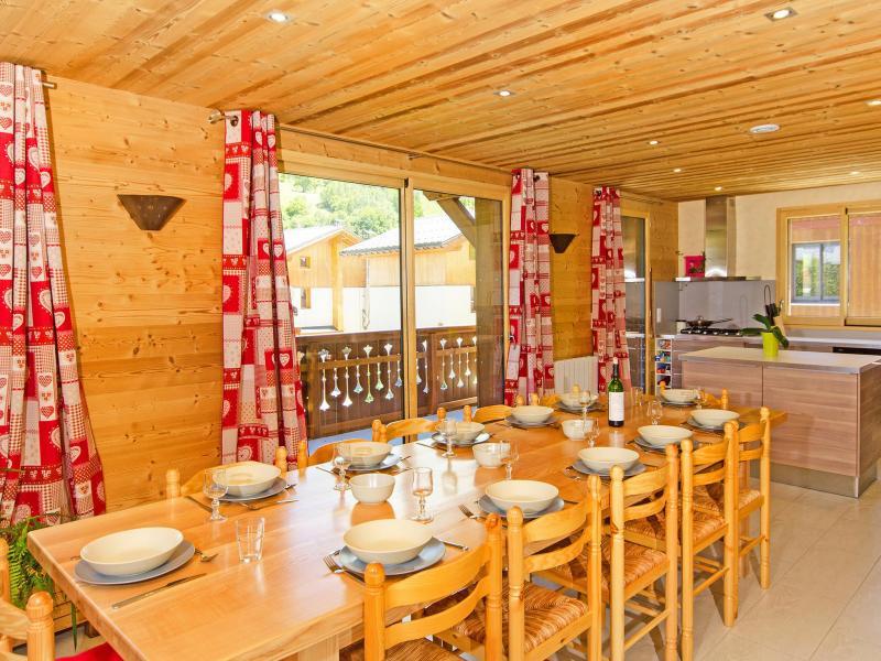 Rent in ski resort Chalet Ski Royal - Les Menuires - Dining area