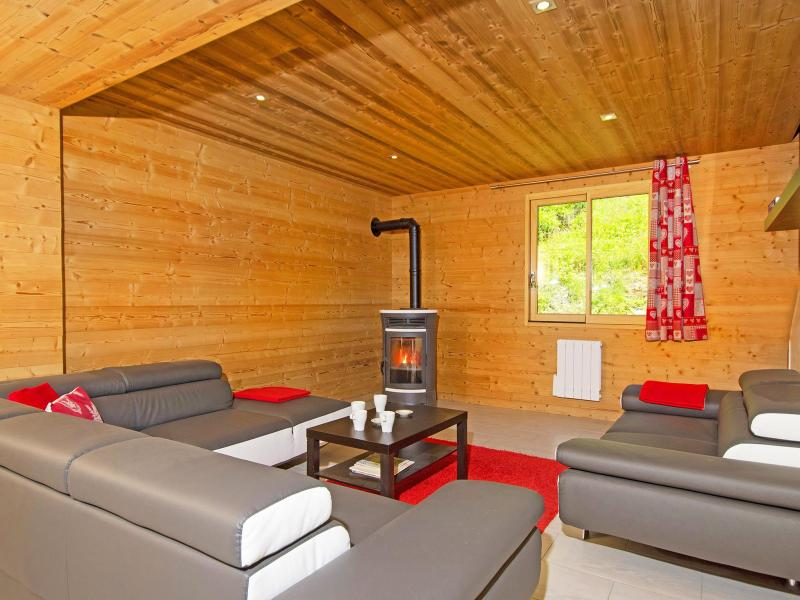 Skiverleih Chalet Ski Royal - Les Menuires - Wohnzimmer