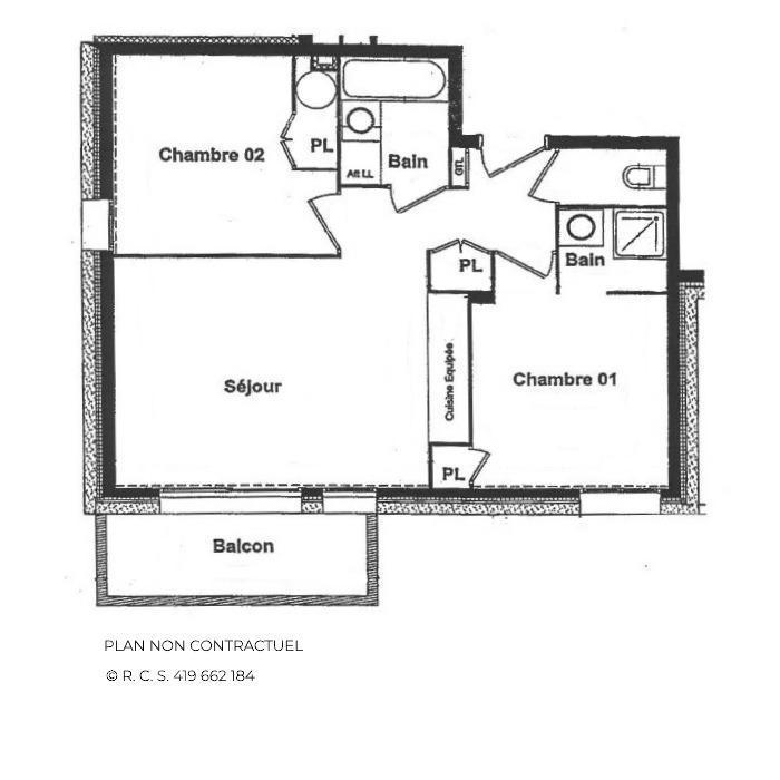 Location au ski Appartement 3 pièces 4 personnes (A1) - Chalets du Doron - Les Menuires