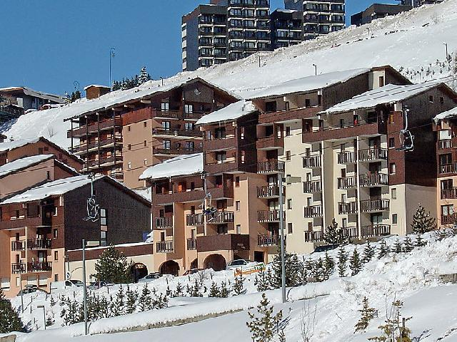 Holiday in mountain resort 2 room apartment 4 people (1) - L'Argousier - Les Menuires - Winter outside