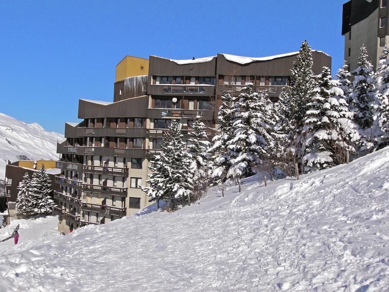 Vakantie in de bergen La Boédette - Les Menuires - Buiten winter
