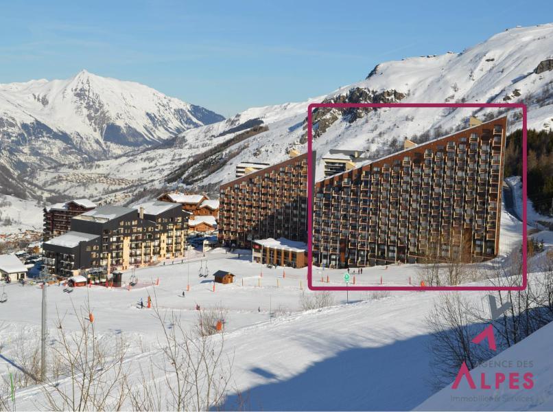 Skiverleih La Résidence Caron - Les Menuires - Draußen im Winter