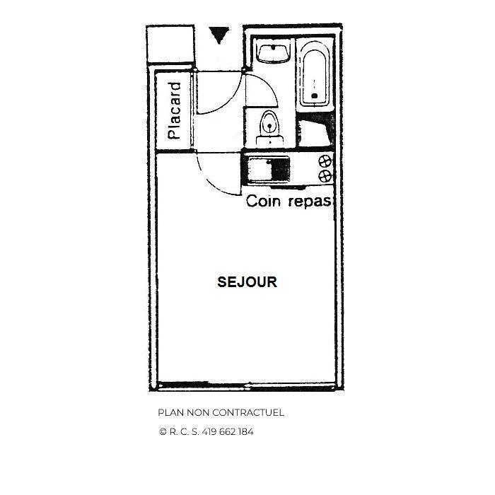 Location au ski Studio 3 personnes (414) - La Résidence Caron - Les Menuires