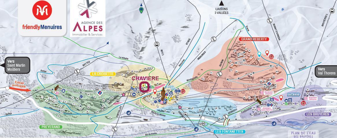 Location au ski La Résidence Chavière - Les Menuires - Plan