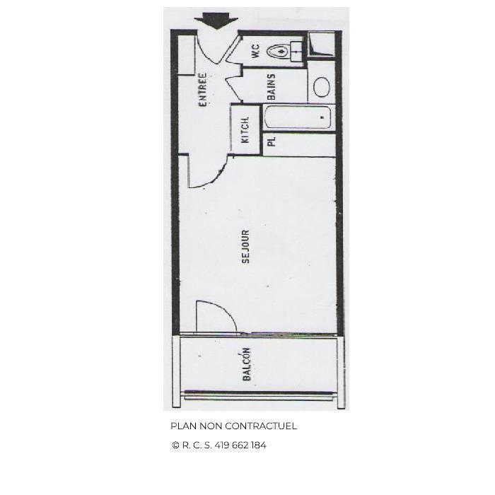 Location au ski Studio 4 personnes (516) - La Résidence Chavière - Les Menuires