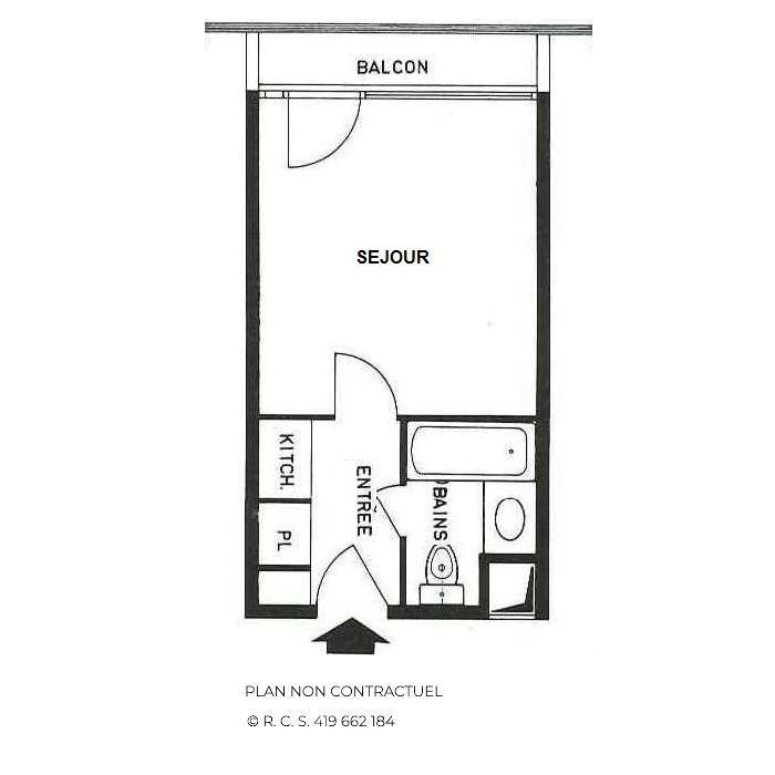 Location au ski Studio 2 personnes (333) - La Résidence Chavière - Les Menuires