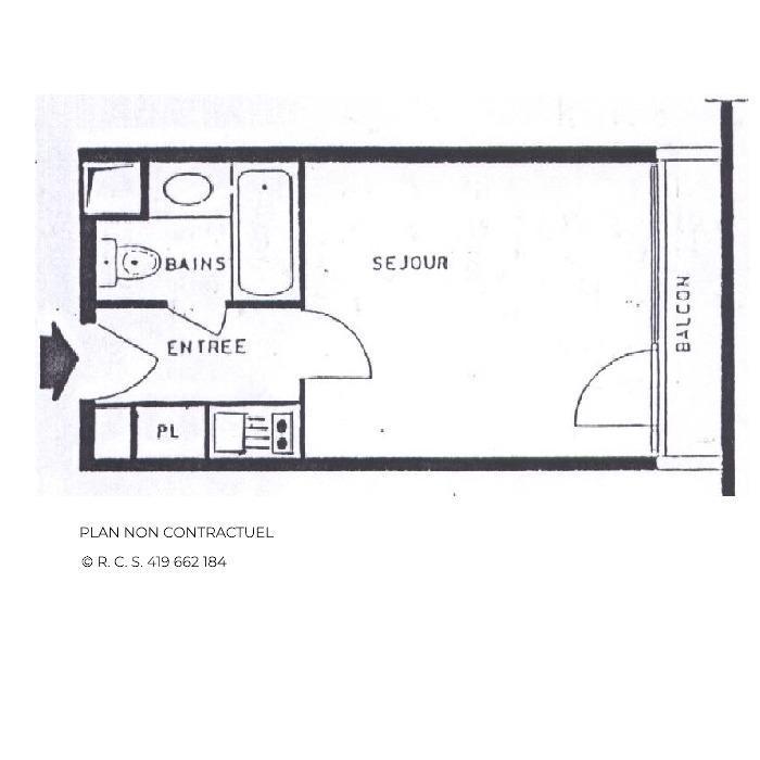 Location au ski Studio 2 personnes (631) - La Résidence Chavière - Les Menuires - Salle de bains