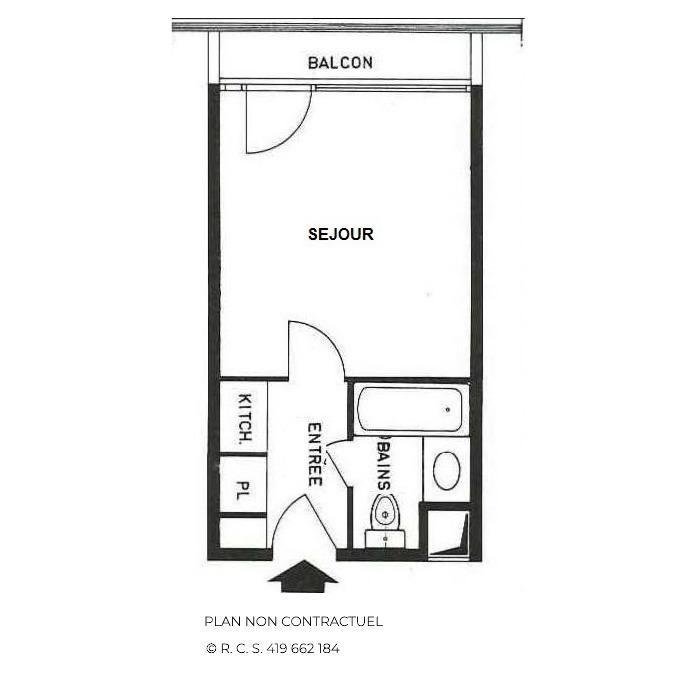 Location au ski Studio 2 personnes (729) - La Residence Chaviere - Les Menuires - Kitchenette