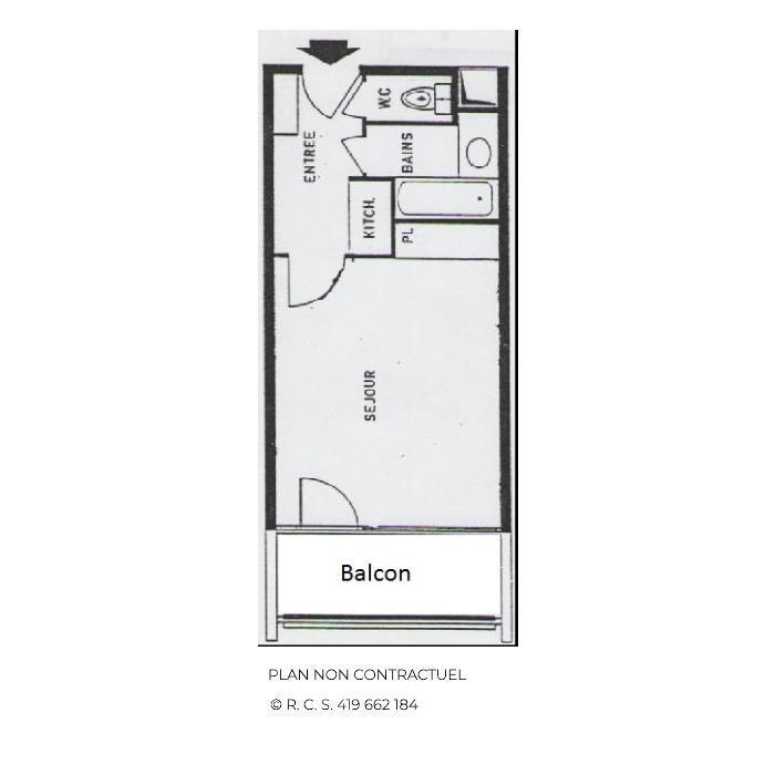 Location au ski Studio 4 personnes (717) - La Résidence Chavière - Les Menuires - Baignoire
