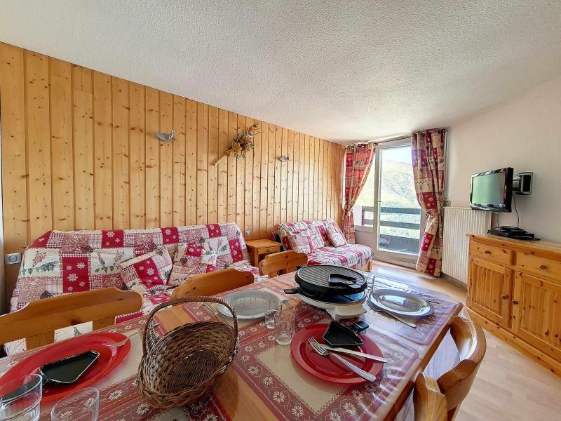 Wynajem na narty Apartament 2 pokojowy 5 osób (635) - La Résidence la Chavière - Les Menuires - Jadalnia
