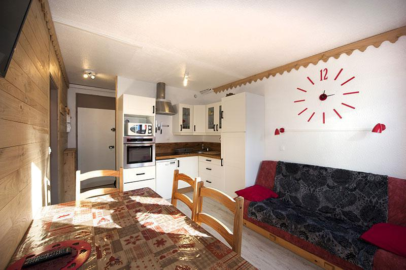Wynajem na narty Apartament 2 pokojowy kabina 5 osób (020) - La Résidence la Chavière - Les Menuires - Jadalnia