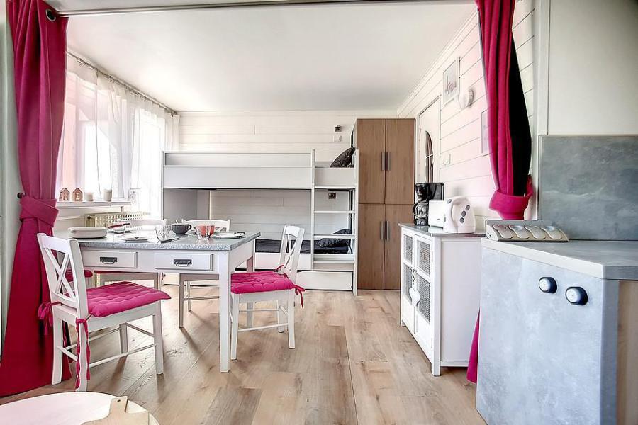 Location au ski Studio 4 personnes (C1) - La Residence Les Lauzes - Les Menuires - Lits superposés