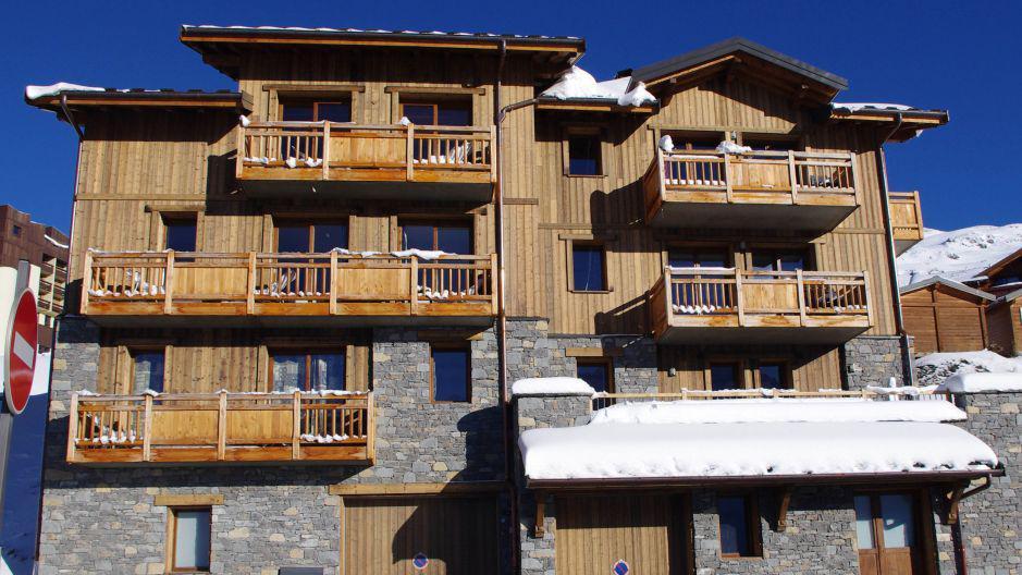 Urlaub in den Bergen Le Chalet Lili - Les Menuires - Draußen im Winter