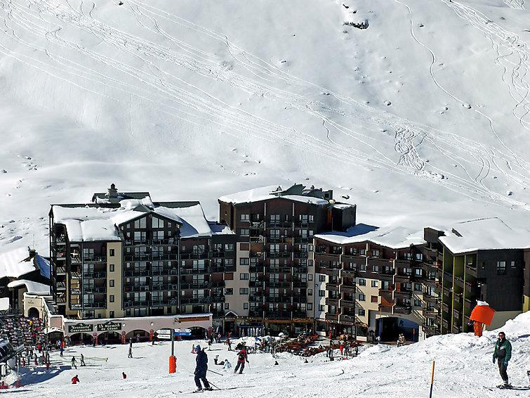Holiday in mountain resort 1 room apartment 4 people (2) - Les Carlines 1 - Les Menuires - Winter outside