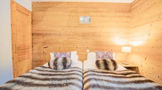 Skiverleih Duplex Wohnung 7 Zimmer 12 Personnen (Jasmine) - Les Chalets de Bettaix - Les Menuires - Schlafzimmer