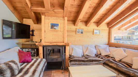 Skiverleih Duplex Wohnung 7 Zimmer 12 Personnen (Jasmine) - Les Chalets de Bettaix - Les Menuires - Wohnzimmer