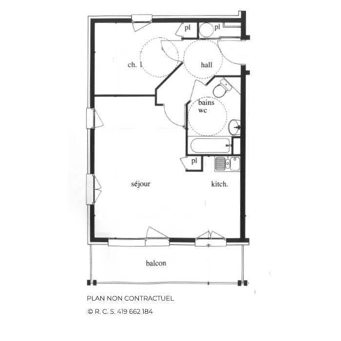 Location au ski Appartement 3 pièces 6-8 personnes (301) - Les Côtes d'Or Chalet Bossons - Les Menuires