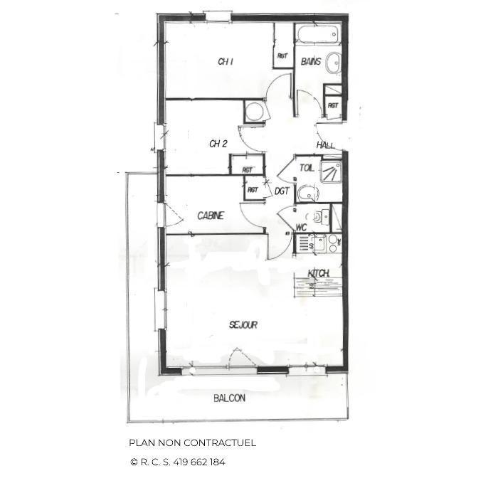 Skiverleih 4 Zimmer Appartement für 6-8 Personen (321) - Les Côtes d'Or Chalet Courmayeur - Les Menuires